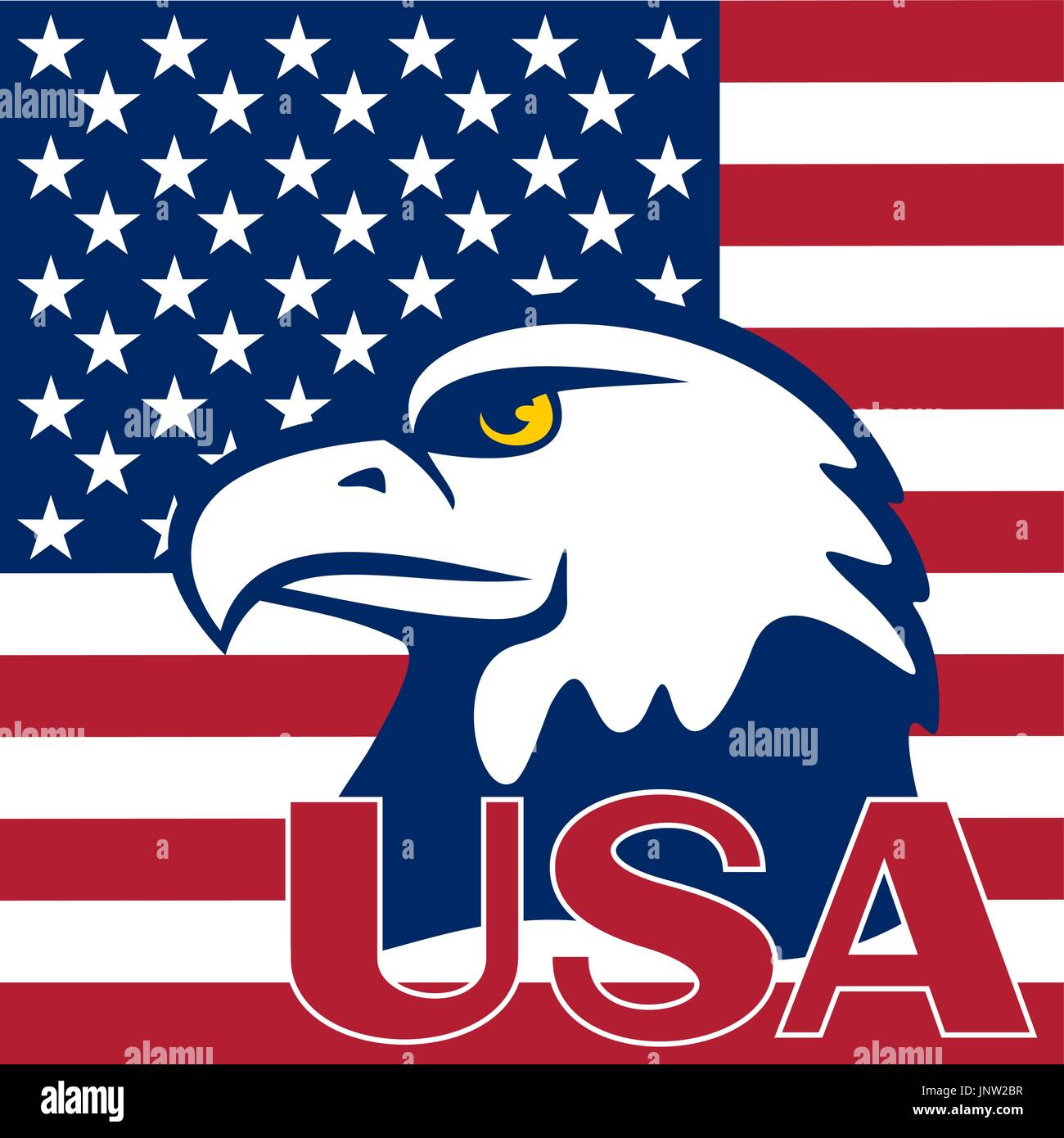 Eagle Is Located On A Flag Of The Usa Symbols Of The United States