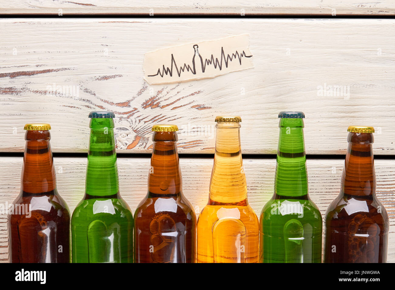 Heart problems from alcohol usage. - Stock Image