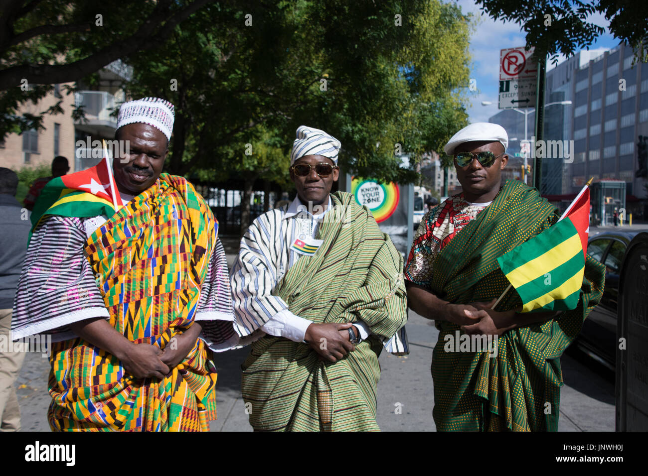 Representatives from across the African diaspora gathered in Harlem for the African Day Parade. - Stock Image