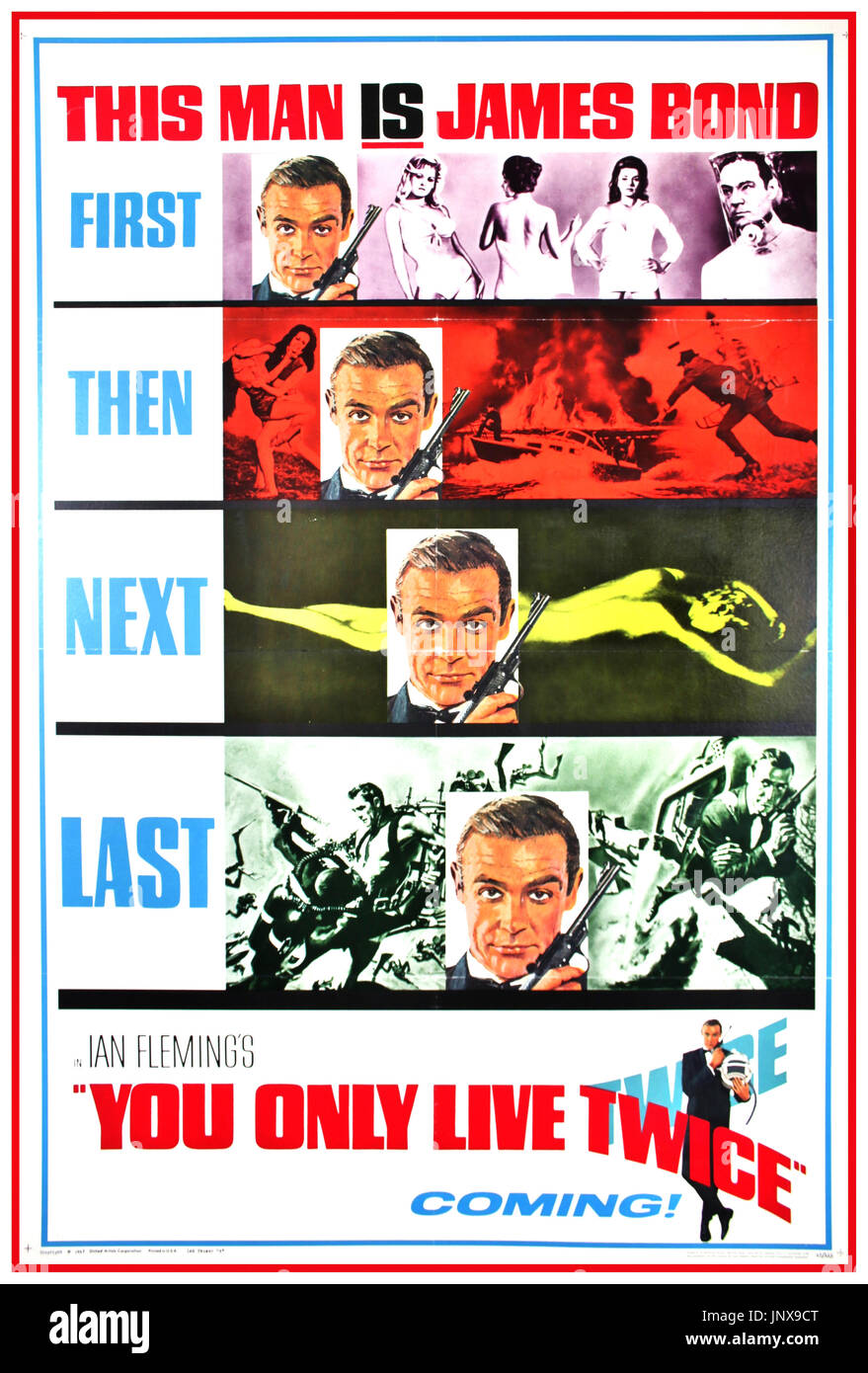 You Only Live Twice Bond Poster Stock Photos & You Only Live Twice