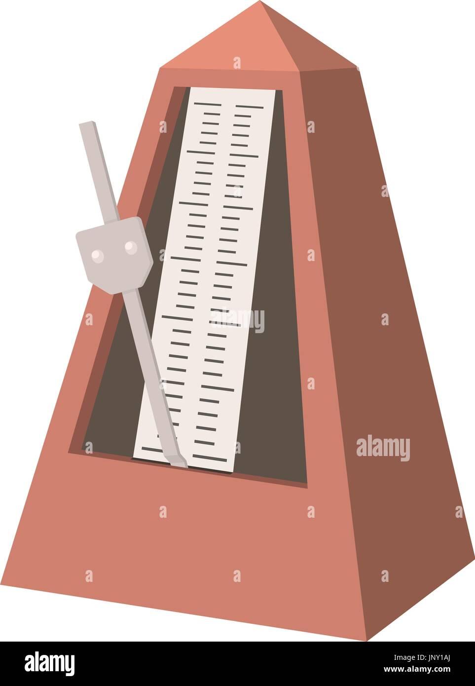 Metronome icon, cartoon style - Stock Image
