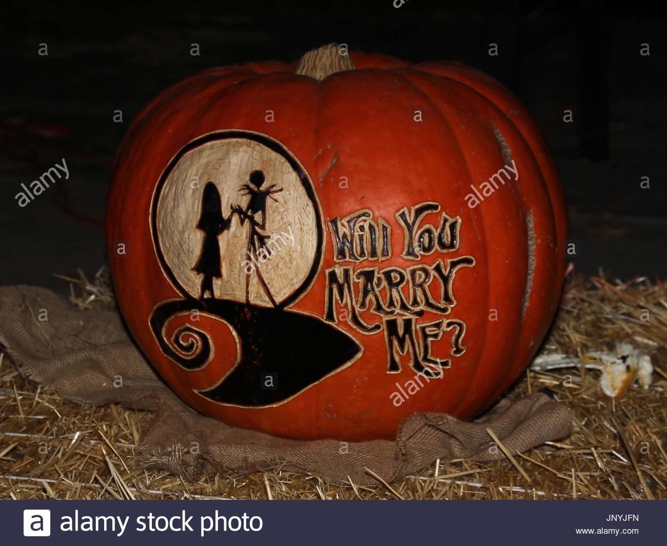 Nightmare Before Christmas Pumpkin - Christmas Cards