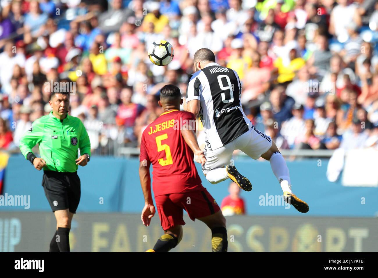 Gillette Stadium 30th July 2017 Ma Usa Juventus Forward Gonzalo Stock Photo Alamy
