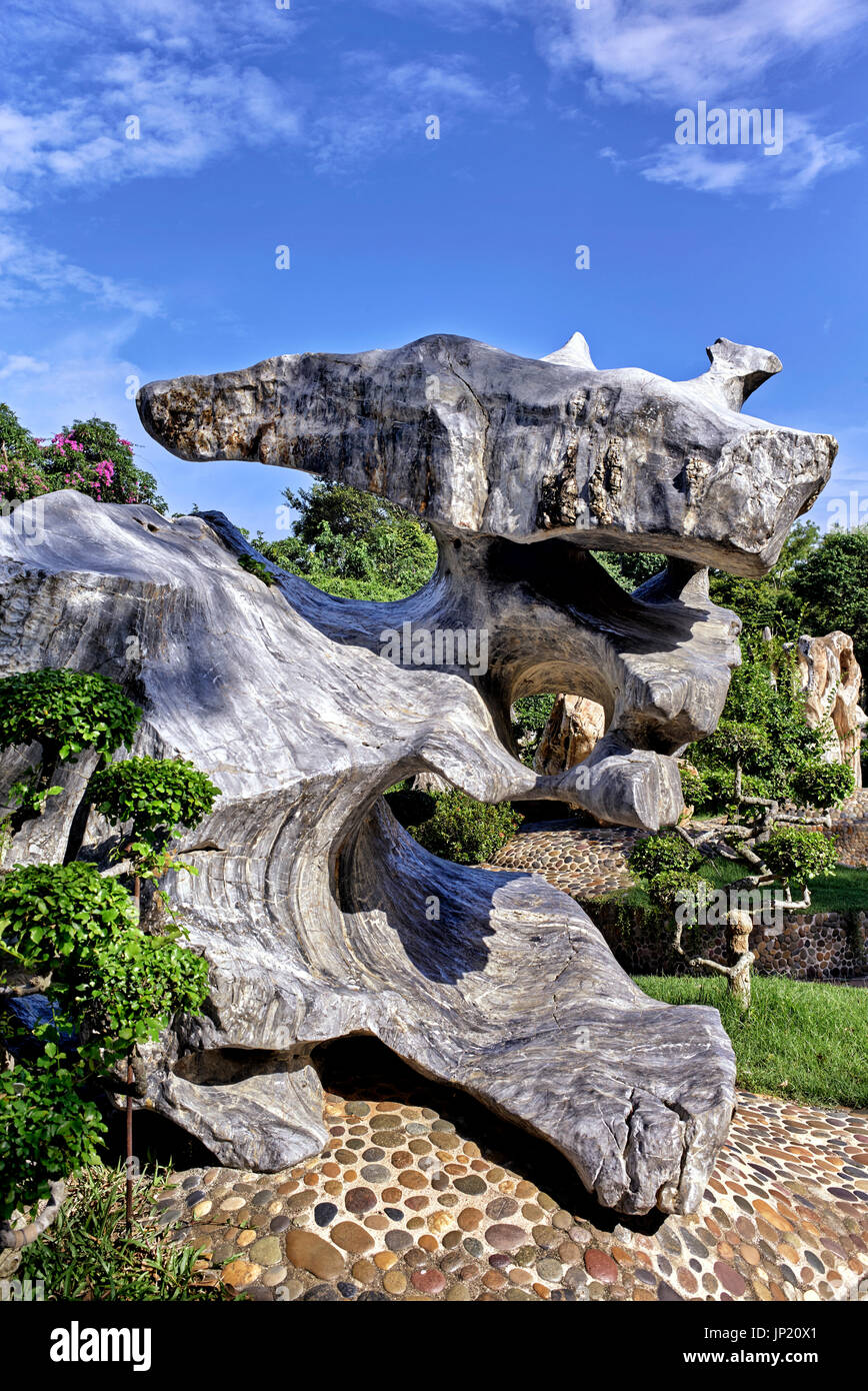 Unusual rock and stone formation. Natural geological odd shapes, - Stock Image
