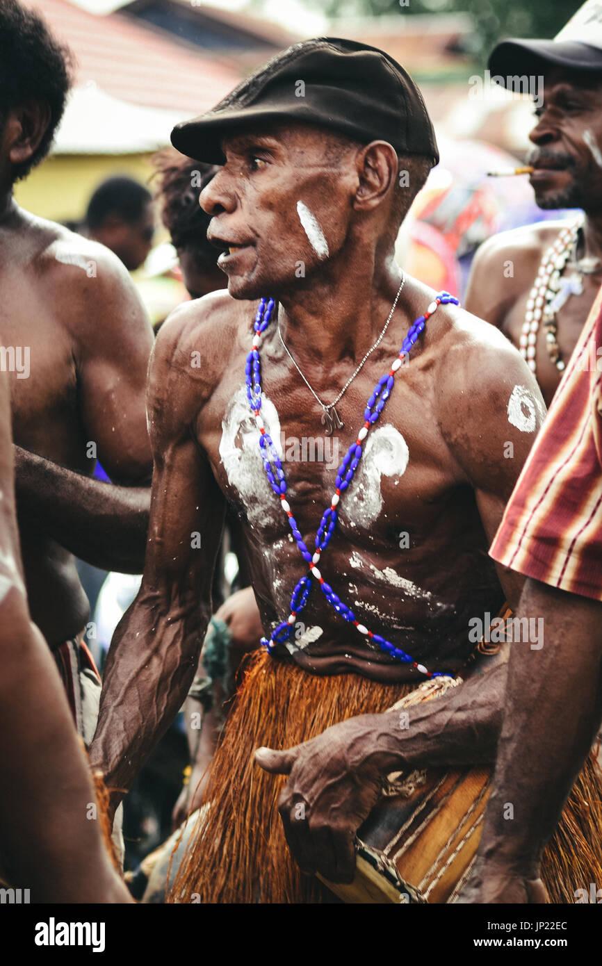 WEST PAPUA LANDSCAPE AND HUMAN INTEREST - Stock Image