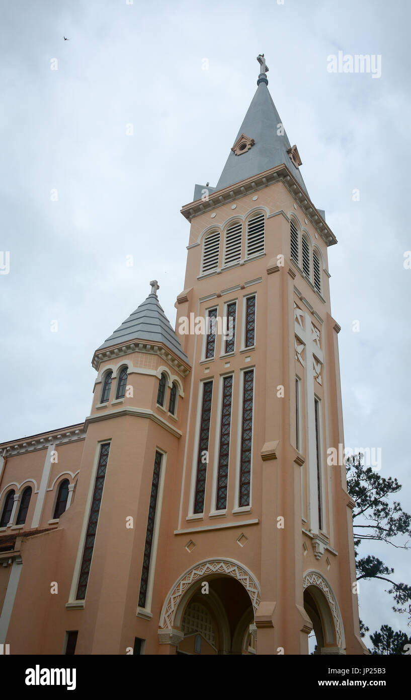 Nicholas of Bari Cathedral (Church of Chicken) in Dalat, Vietnam. It is a Roman Catholic cathedral, seat of the diocese of Da Lat, suffragan of the Ar - Stock Image