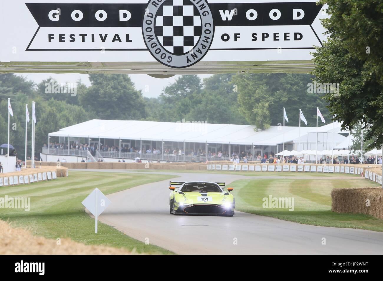 Goodwood Festival of Speed 2017 - Day 1 - Goodwood Hillclimb  Featuring: Aston Martin Vulcan Where: Chichester, United Kingdom When: 29 Jun 2017 Credit: Michael Wright/WENN.com - Stock Image