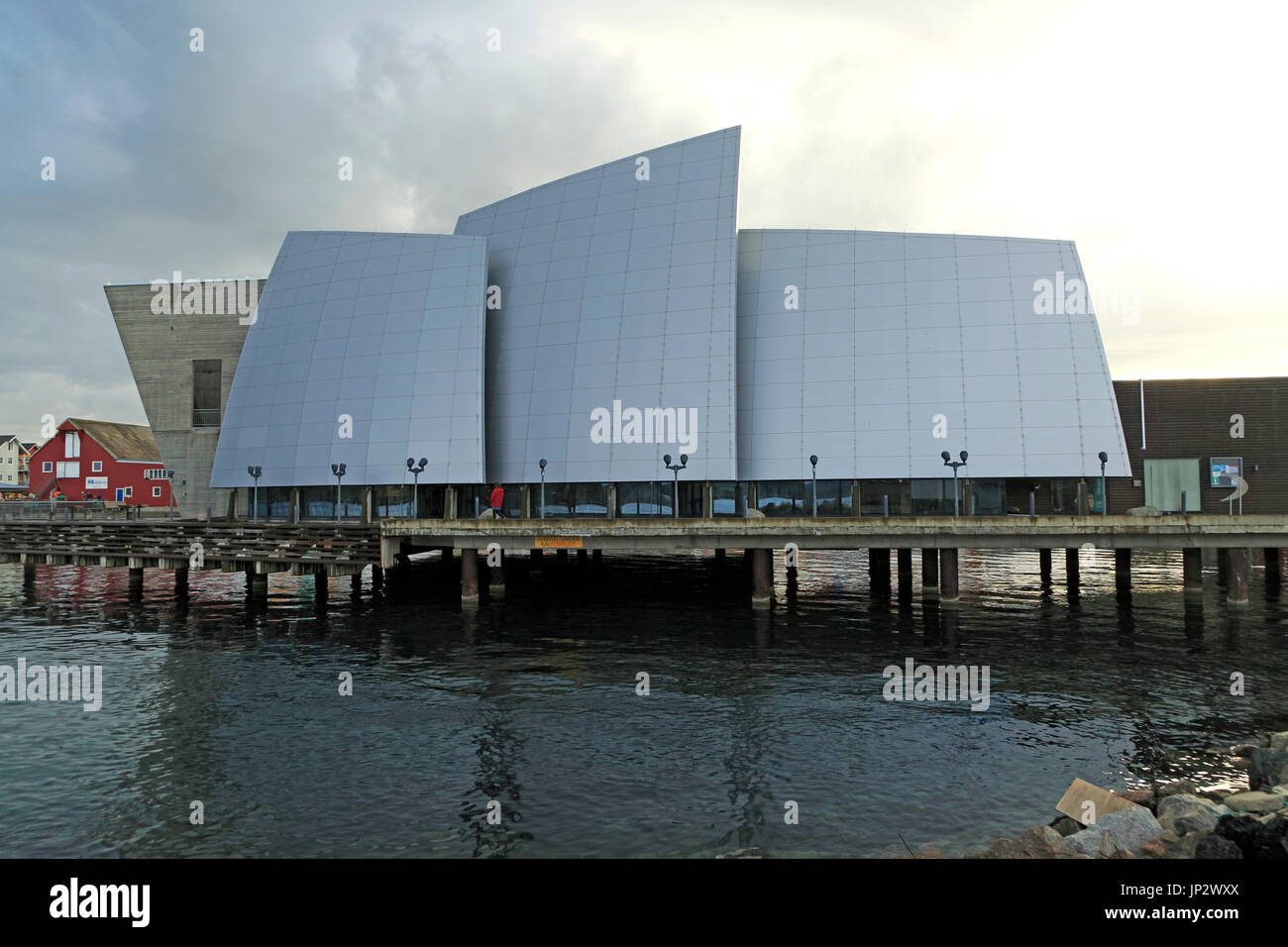 Norveg Coastal Museum in Rorvik, architect Gudmundur Jonnson, Norway built 2004 - Stock Image
