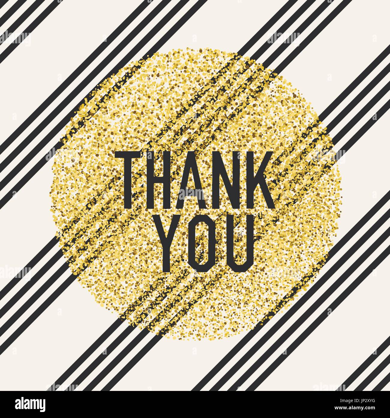 Thank You Invitation Card Design Template Diagonal Lines