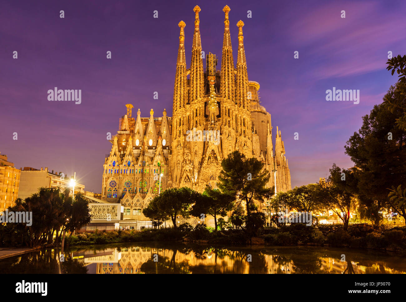 Spain Barcelona Spain Barcelona antoni gaudi sagrada familia Barcelona la sagrada familia cathedral Barcelona Spain catalunya catalonia eu Europe - Stock Image