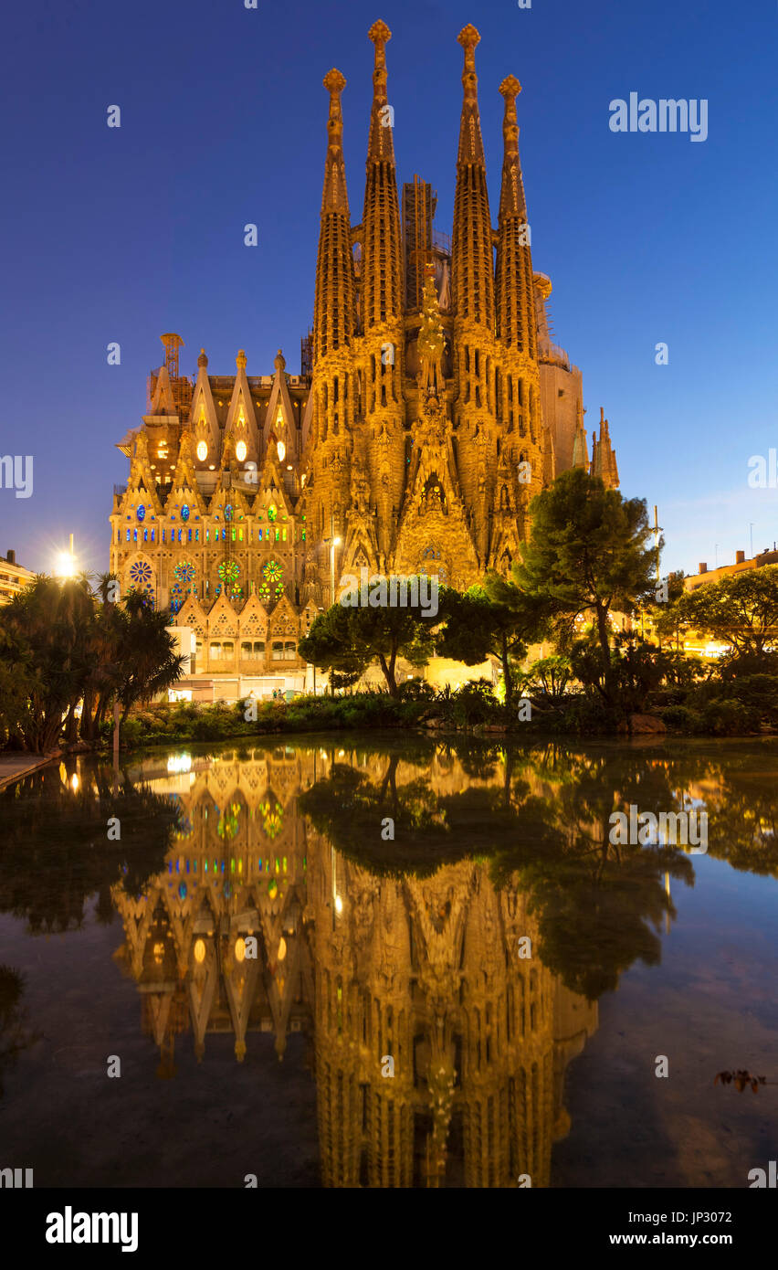 Spain Barcelona Spain Barcelona antoni gaudi sagrada familia Barcelona la sagrada familia cathedral Barcelona Spain Stock Photo