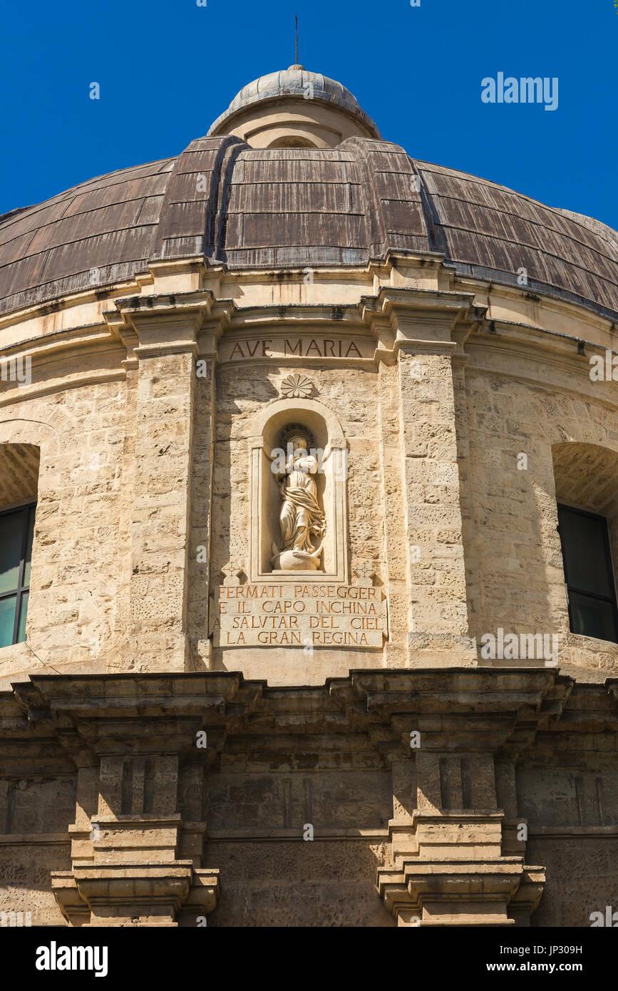 Sassari Sardinia church, the Baroque dome of the Santa Maria di Betlem church in Sassari, Sardinia. - Stock Image