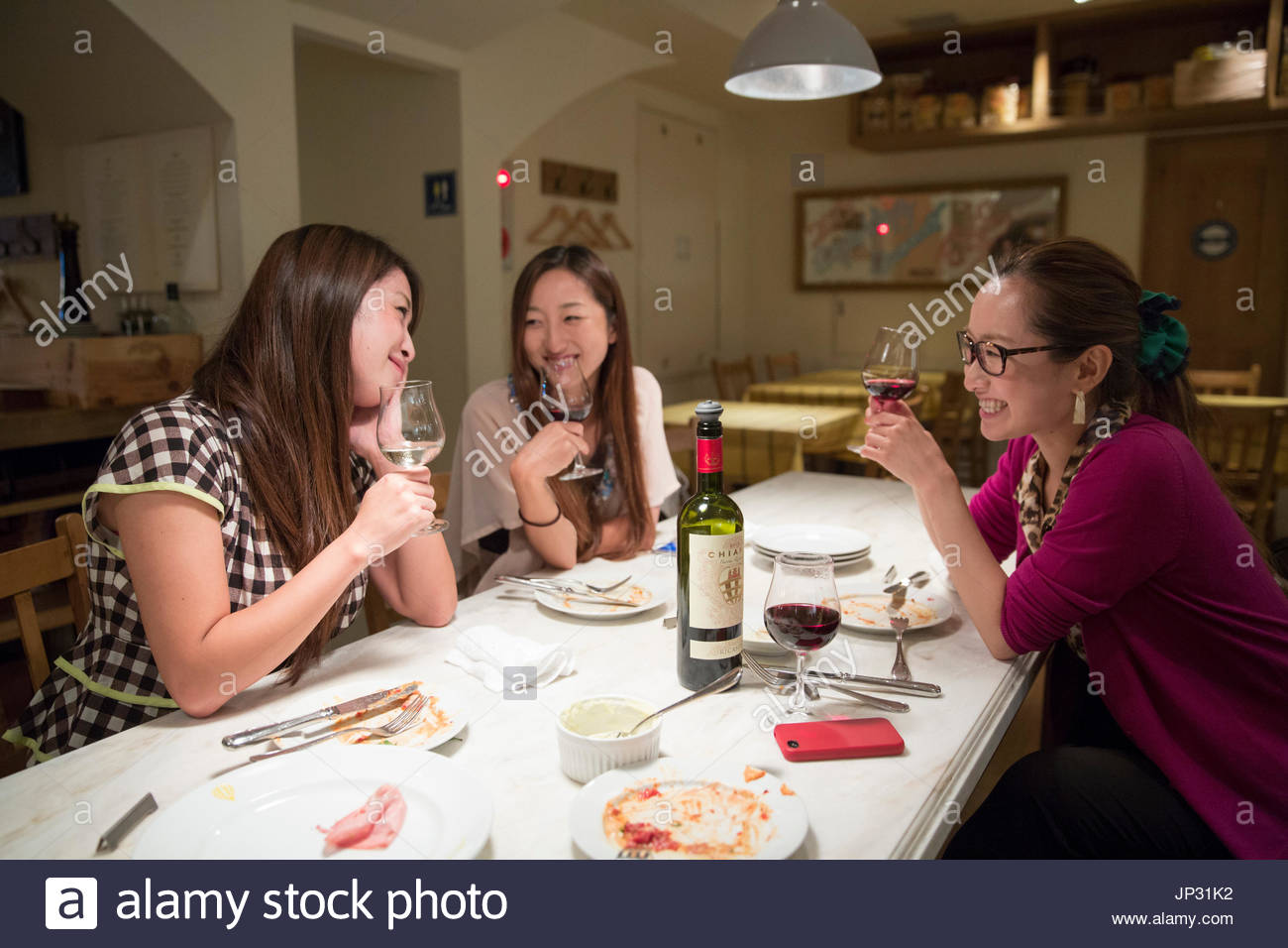 Asia, Japan, Tokyo, womans in restaurant - Stock Image