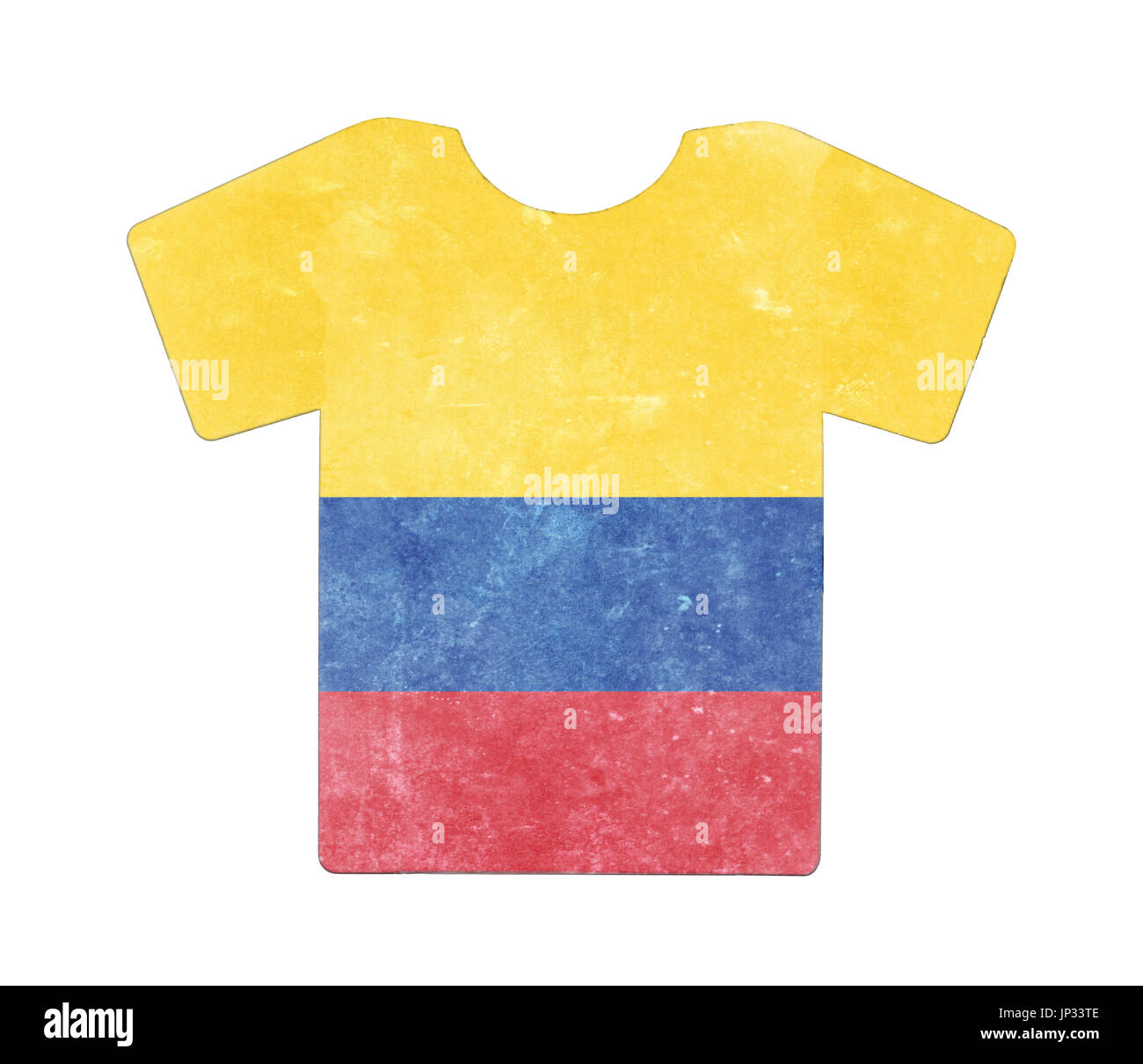 e77fb520b Simple t-shirt, flithy and vintage look, isolated on white - Colombia -
