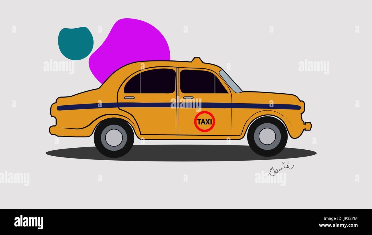 Kolkata Cab - Stock Vector