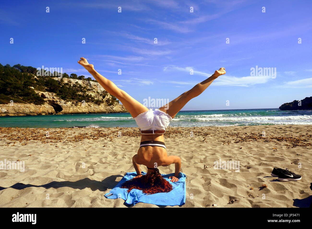 Lifestyle/ Passion for Yoga/ Professional blogger - Stock Image