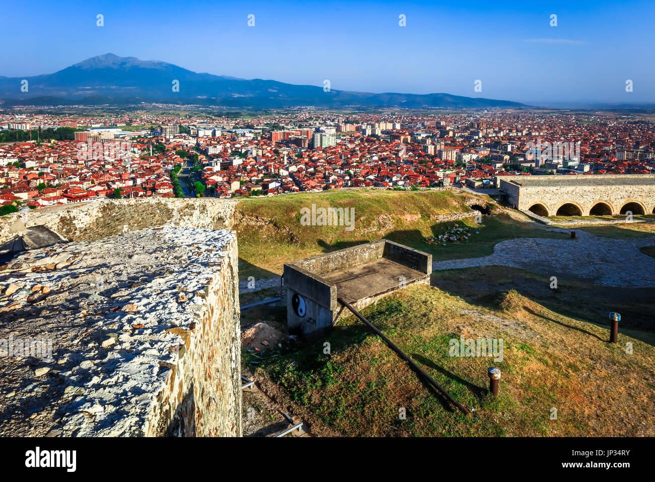 Europe, Kosovo, Prizren, Historic city, Prizren Fortress, Призренски град, Prizrenski grad, Kaljaja, Каlаја, Каљаја, Stock Photo