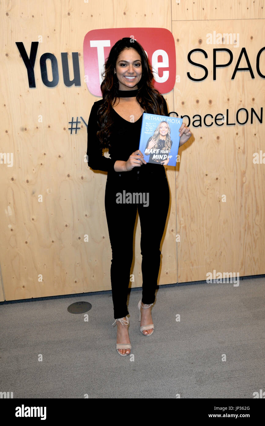 6c23f4a229a2 Video blogger Bethany Mota launches her new book  Make Your Mind Up  at  YouTube