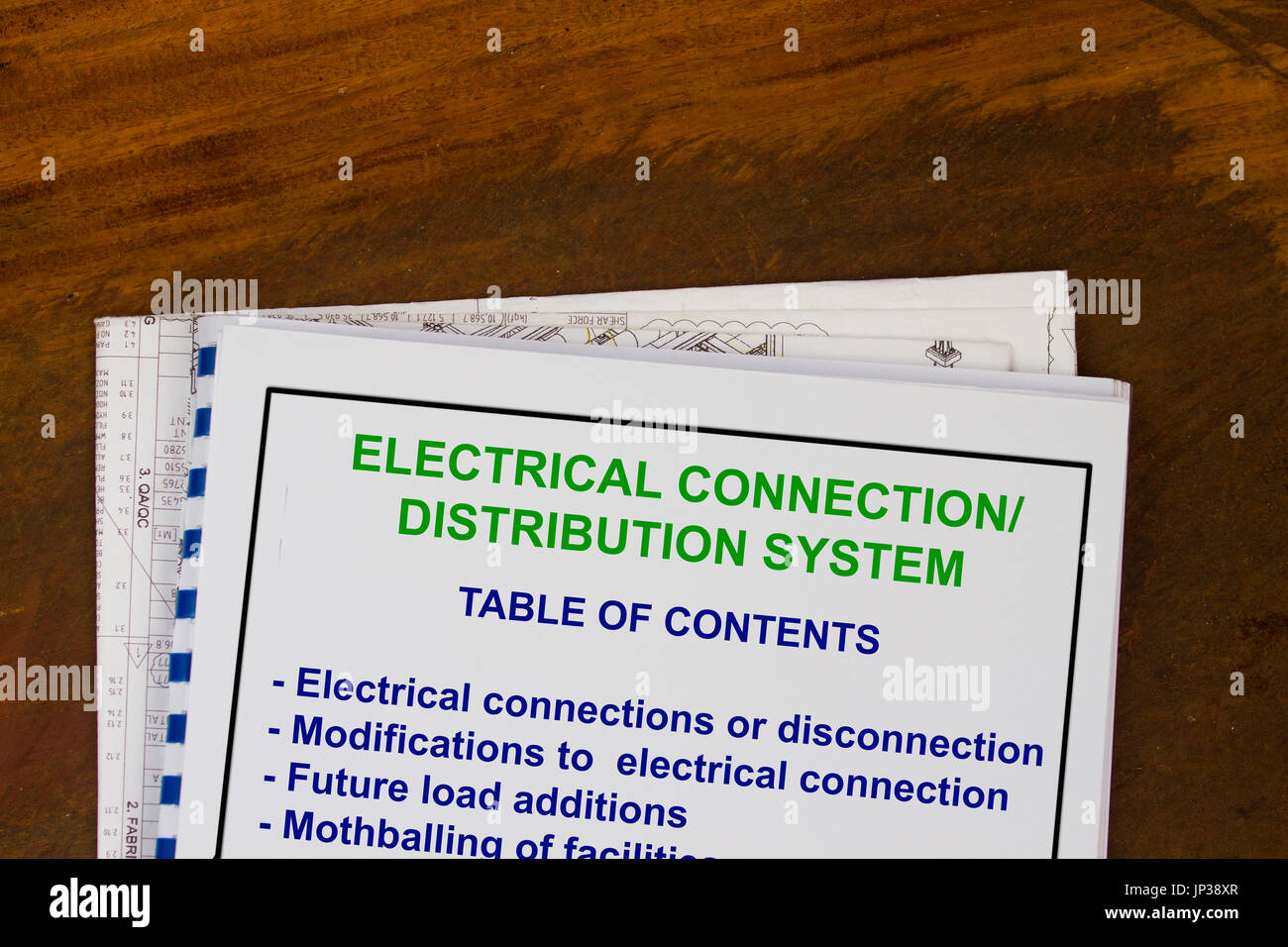 Electrical connection and disconnection concept- many uss in the oil and gas industry. - Stock Image