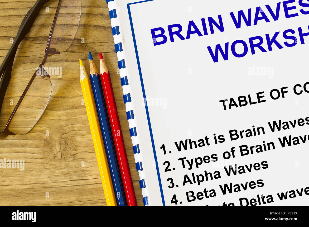 Brain waves concept- many uses in the creative visualization seminar. - Stock Image