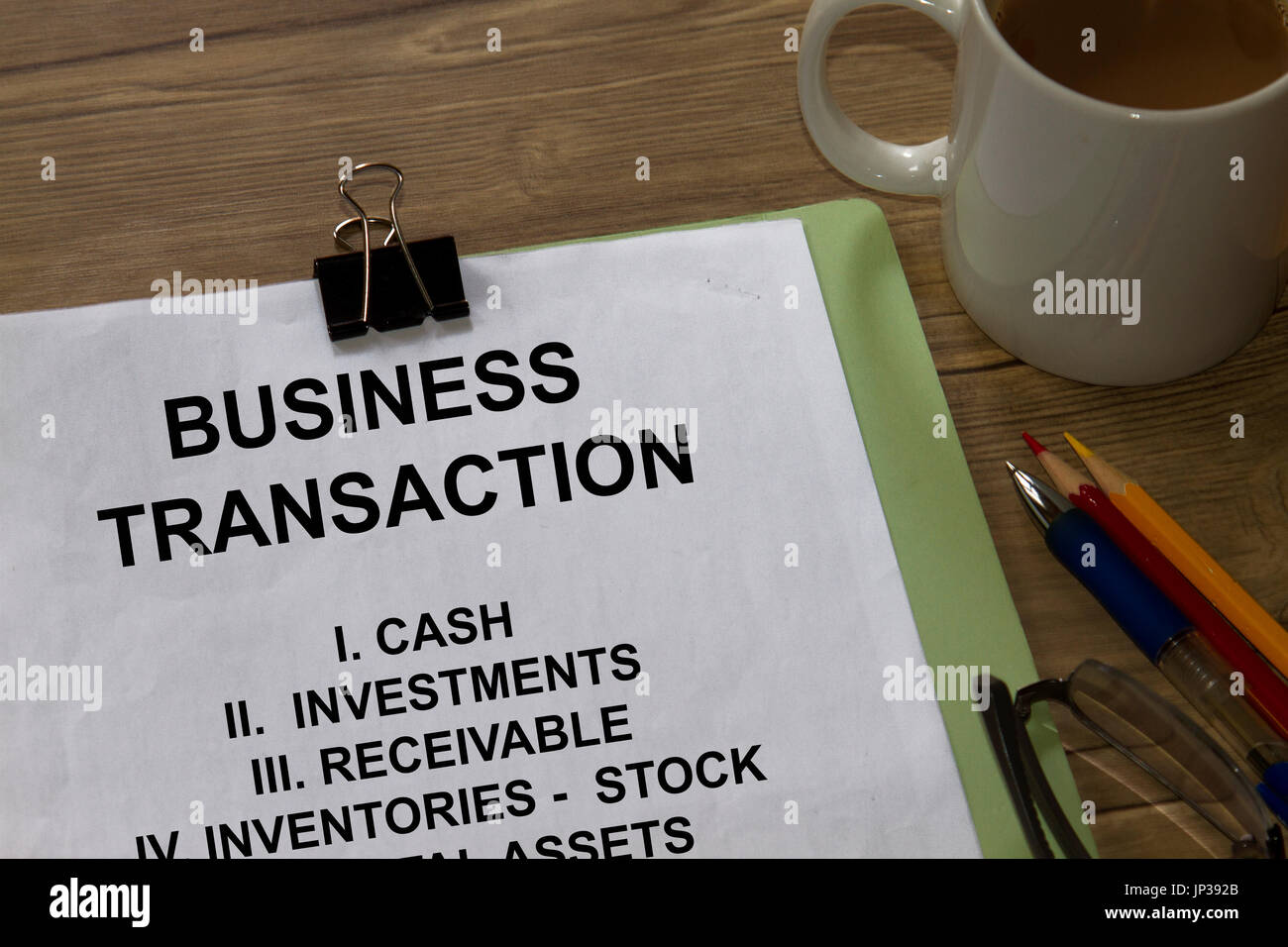 Business Transaction- concept for investment and related subject. - Stock Image