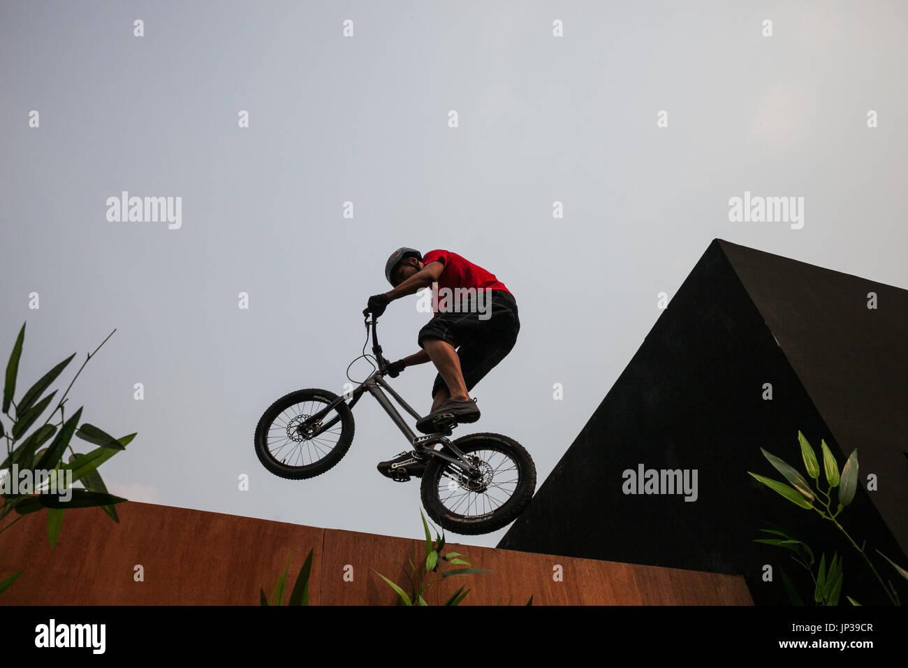 Stunt show, Beijing, China - Stock Image