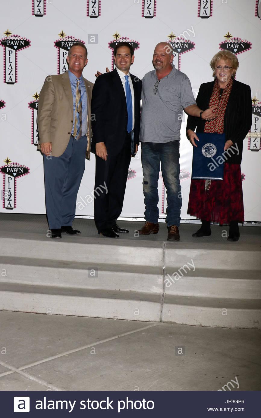 Lt Governor Mark Hutchison, Sen. Marco Rubio, Rick Harrison, Mayor ...