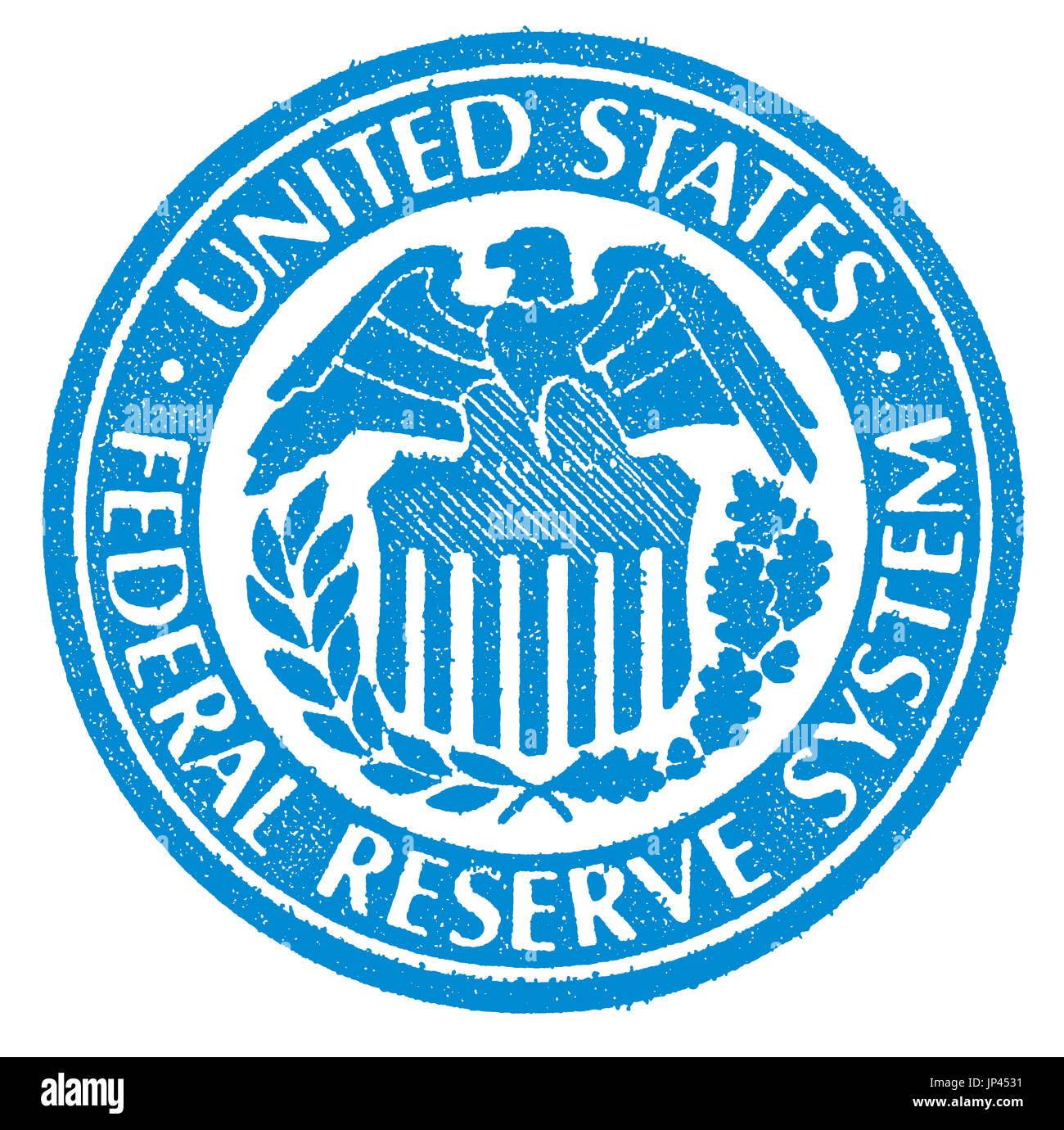 Illustrated Symbol Of The Federal Reserve System Of The Usa Stock