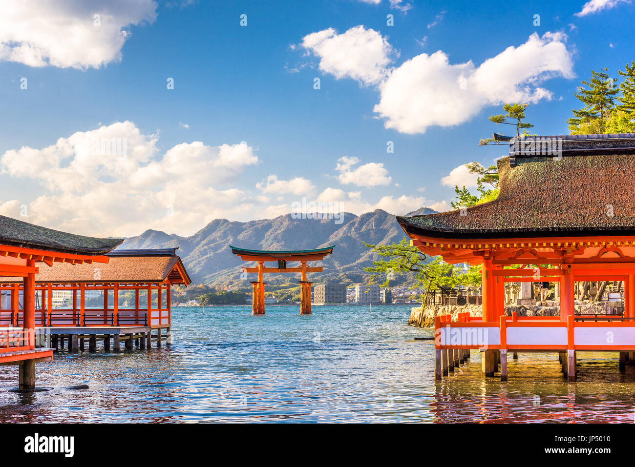Miyajima, Hiroshima, Japan floating shrine. - Stock Image