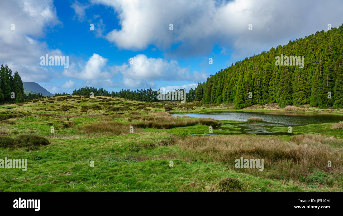 Lagoa do Negro (Black Lagoon) in Terceira Island, Azores, Portugal - Stock Image