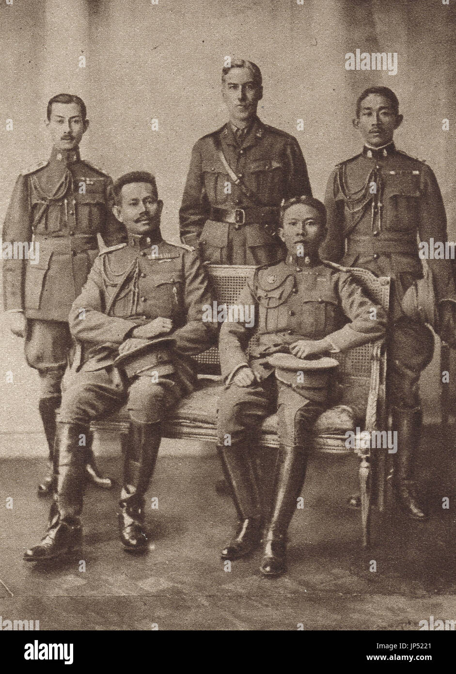 Chinese Cavalrymen on scouting duties, ww1 - Stock Image