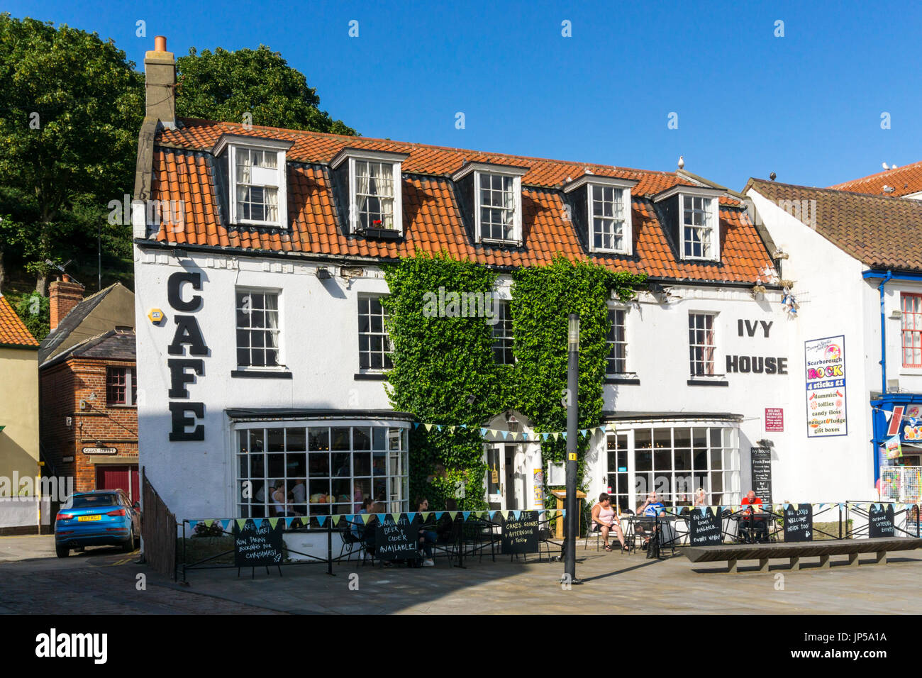 The Ivy House Cafe in Scarborough describes itself as a gastro tea room. - Stock Image