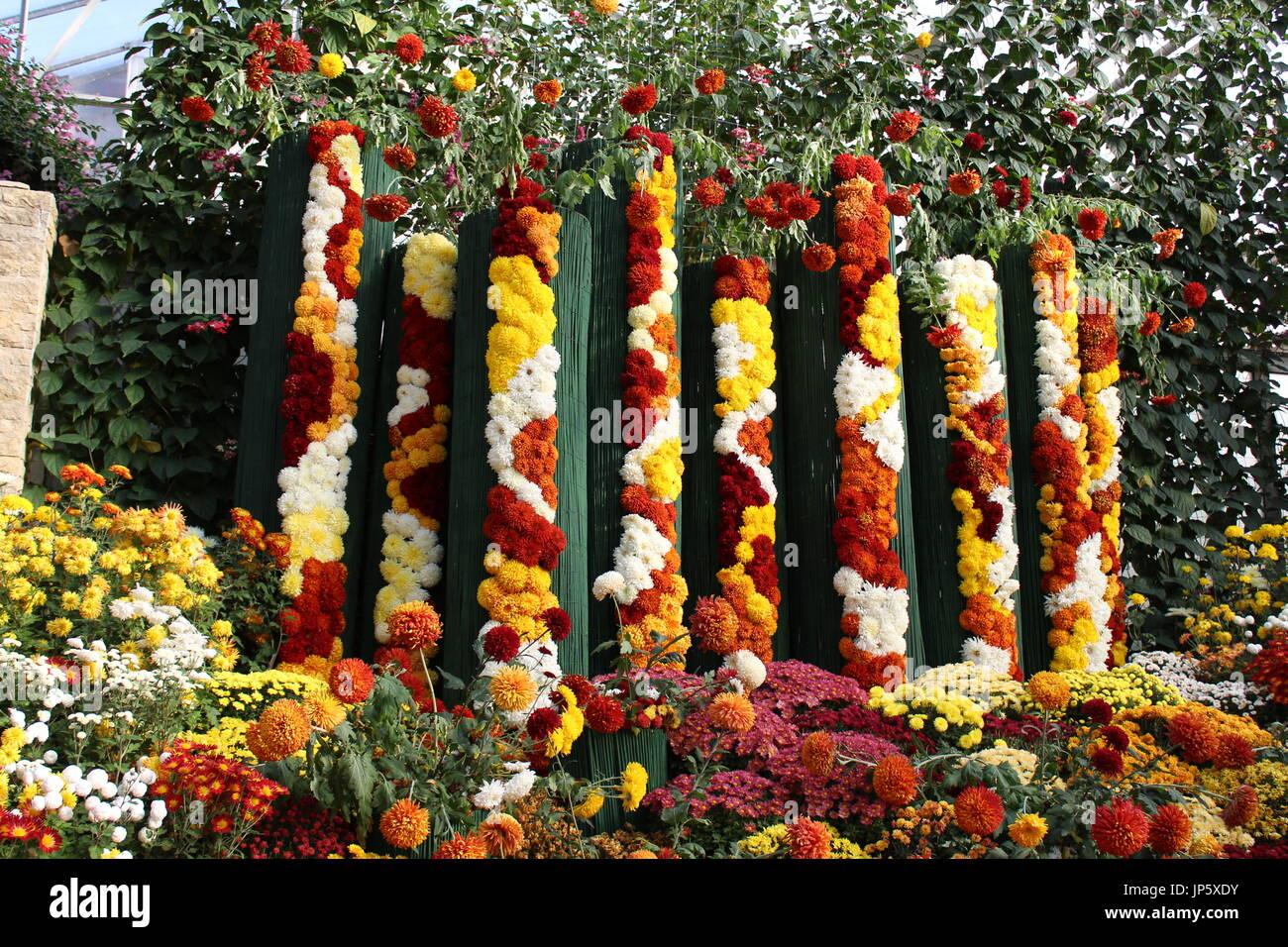 Temple Flower Decoration Festival Stock Photos Temple