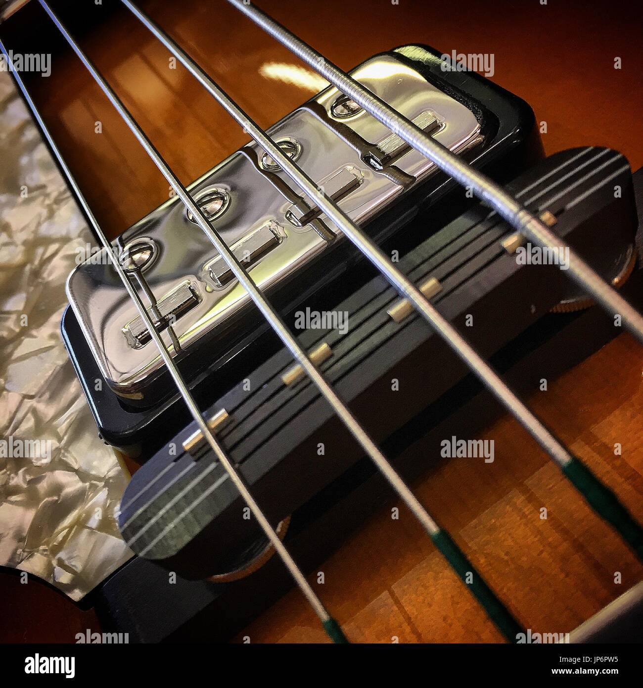 bowed stringed instrument - Stock Image