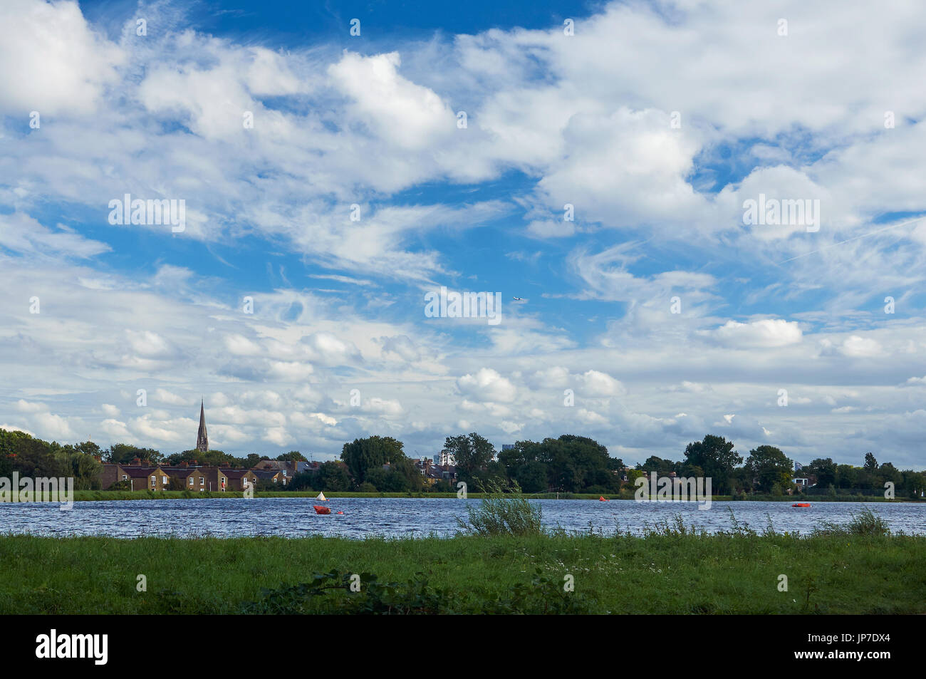 Skyscape over Woodberry Down, Stoke Newington, North London UK - Stock Image