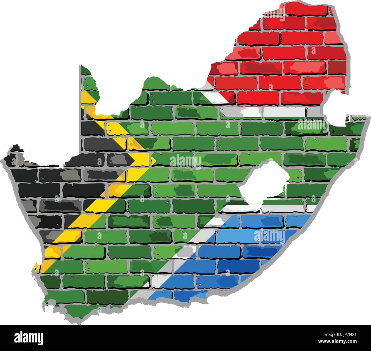 South africa map on a brick wall illustration south africa map south africa map on a brick wall illustration south africa map with flag inside gumiabroncs Choice Image