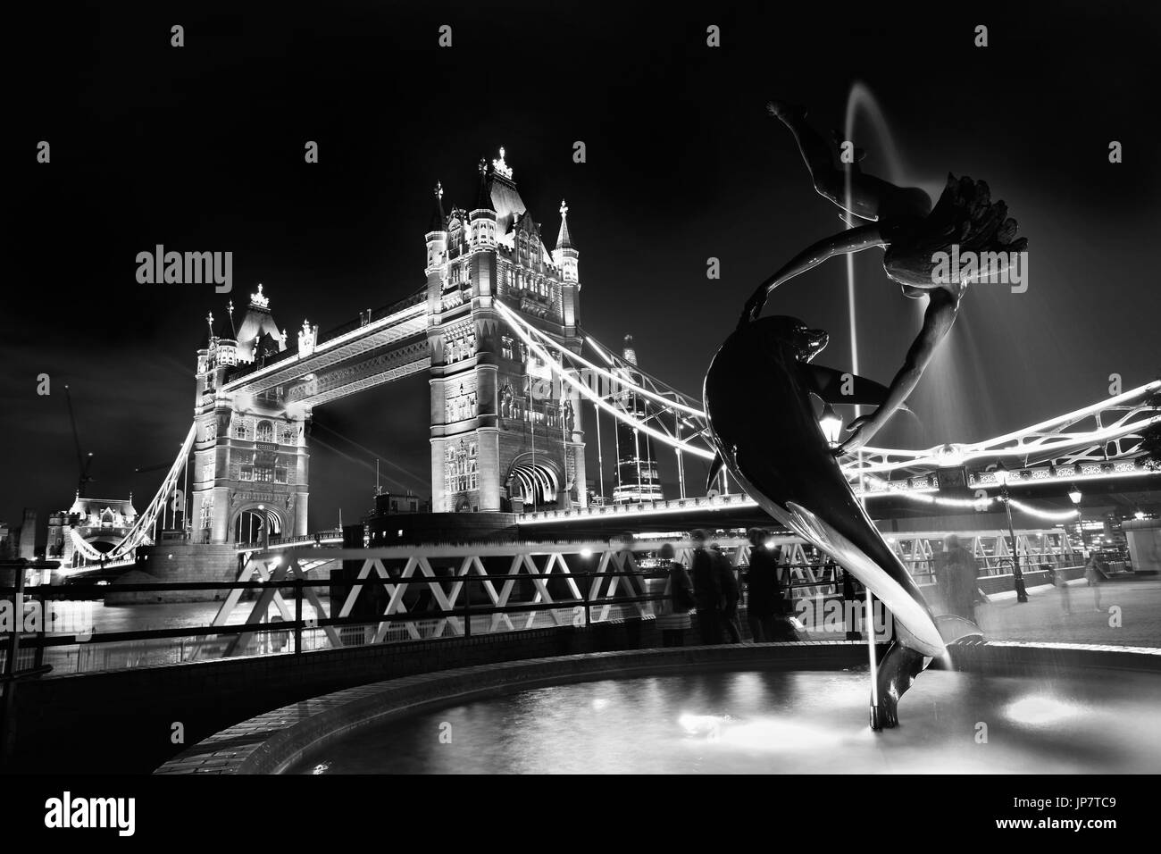 Tower Bridge in London, England, UK - Stock Image