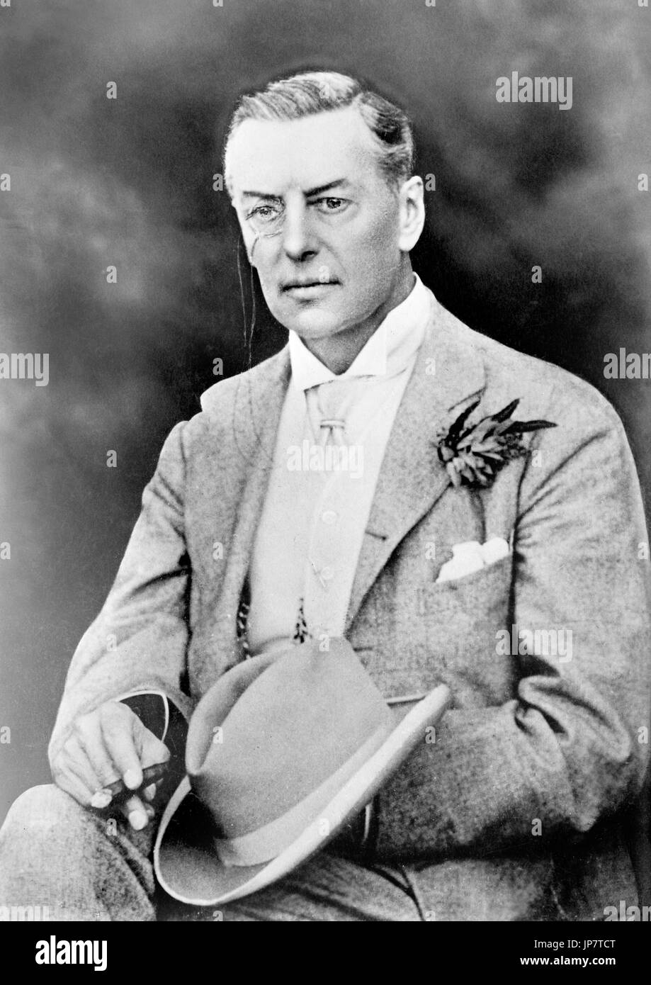 Joseph Chamberlain (1836-1914), Photograph of the British politician in 1909. - Stock Image