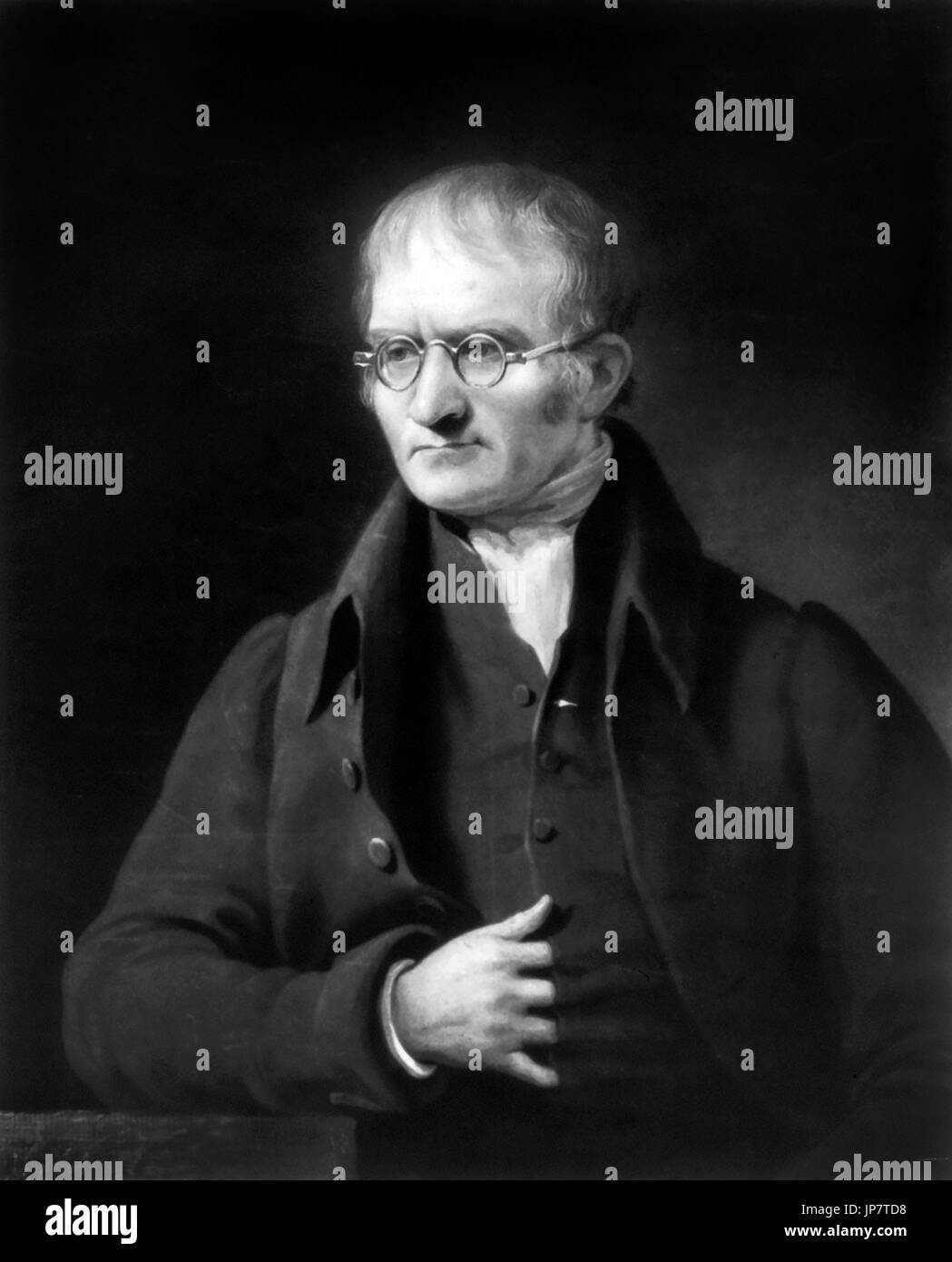 John Dalton (1766-1844), chemist and pioneer in nuclear physics. Engraving by Charles Turner from a portrait by Stock Photo