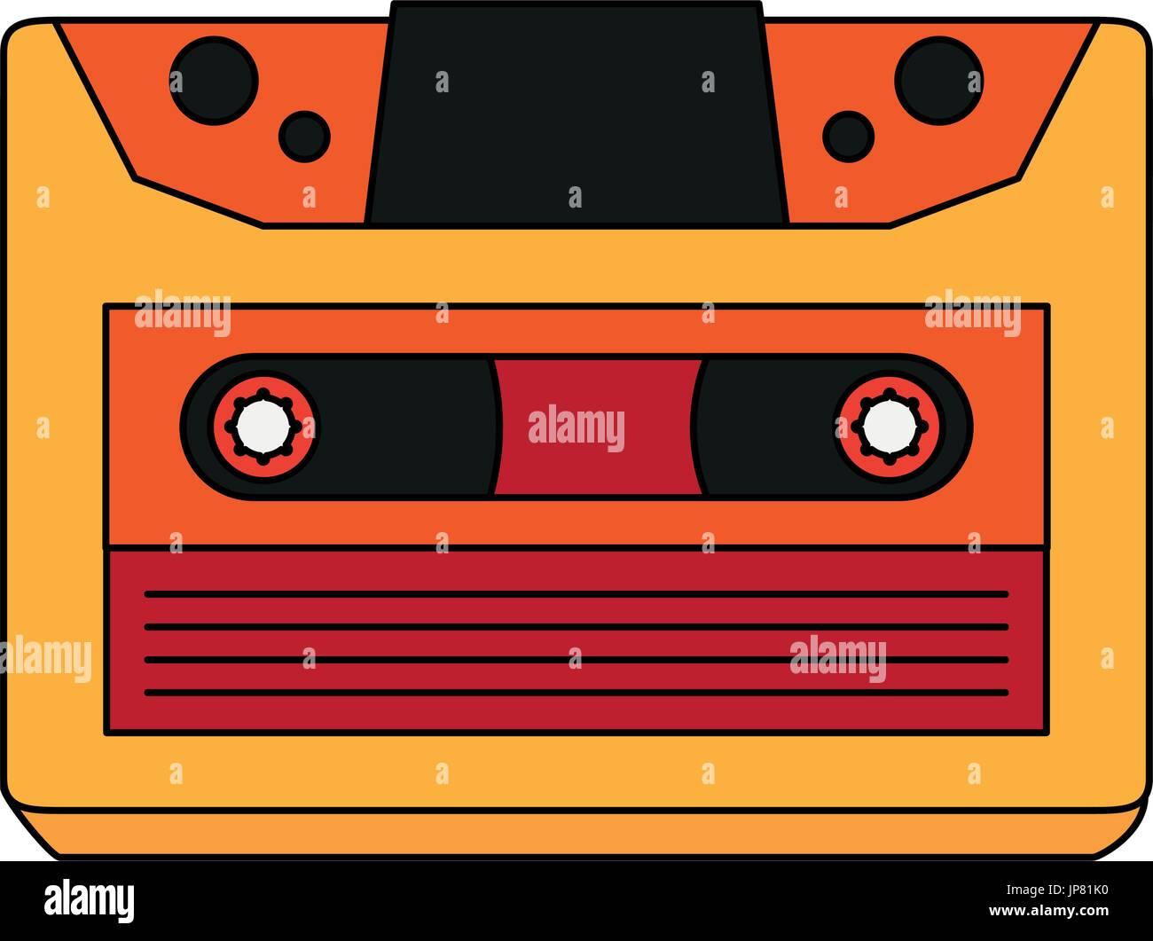 retro audio cassette tape  - Stock Image