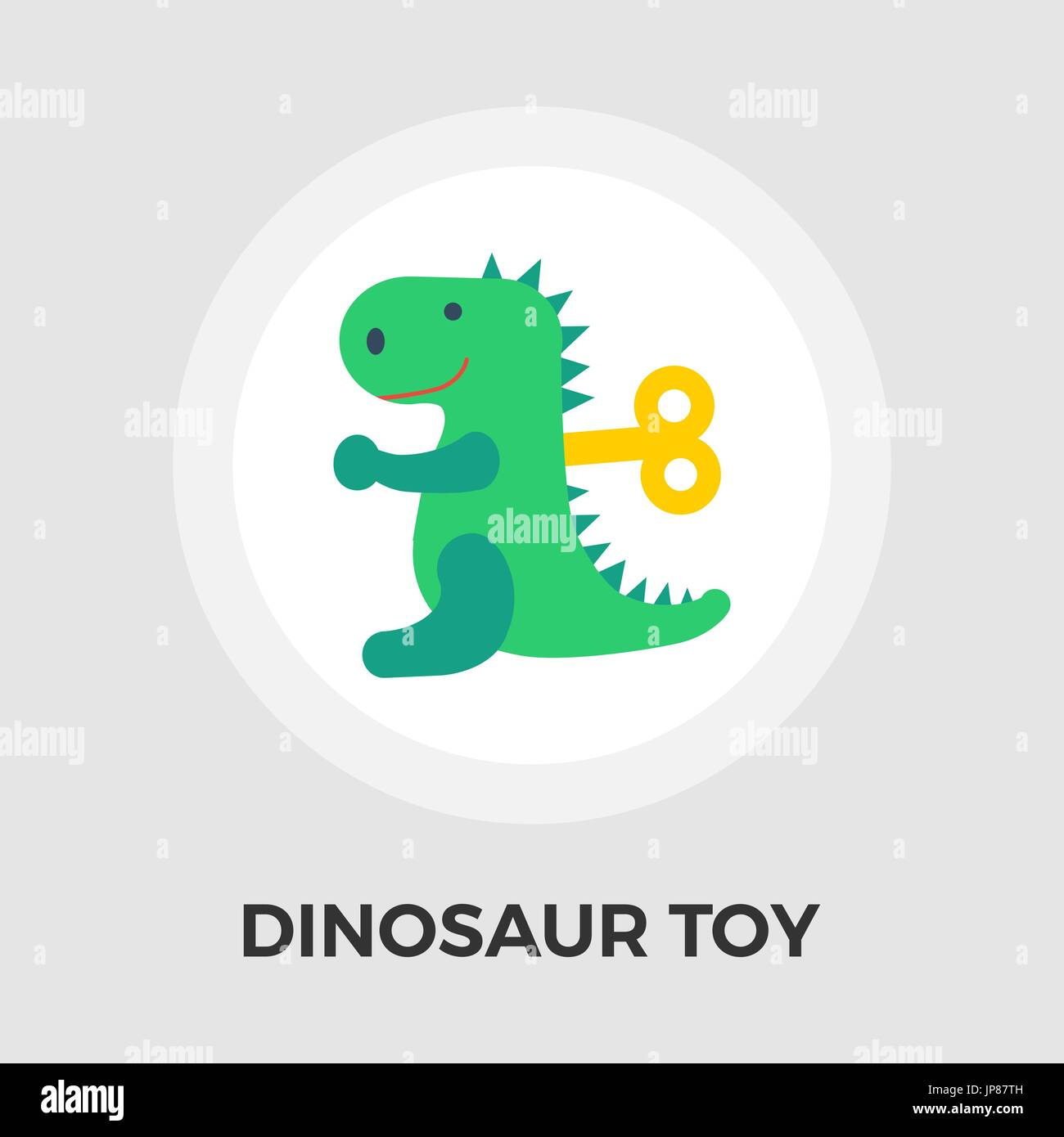Dinosaurus icon vector. Flat icon isolated on the white background. Editable EPS file. Vector illustration. Stock Vector