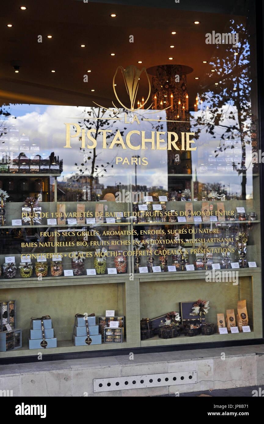 Paris, France - Pistacherie gourmet shop - Stock Image