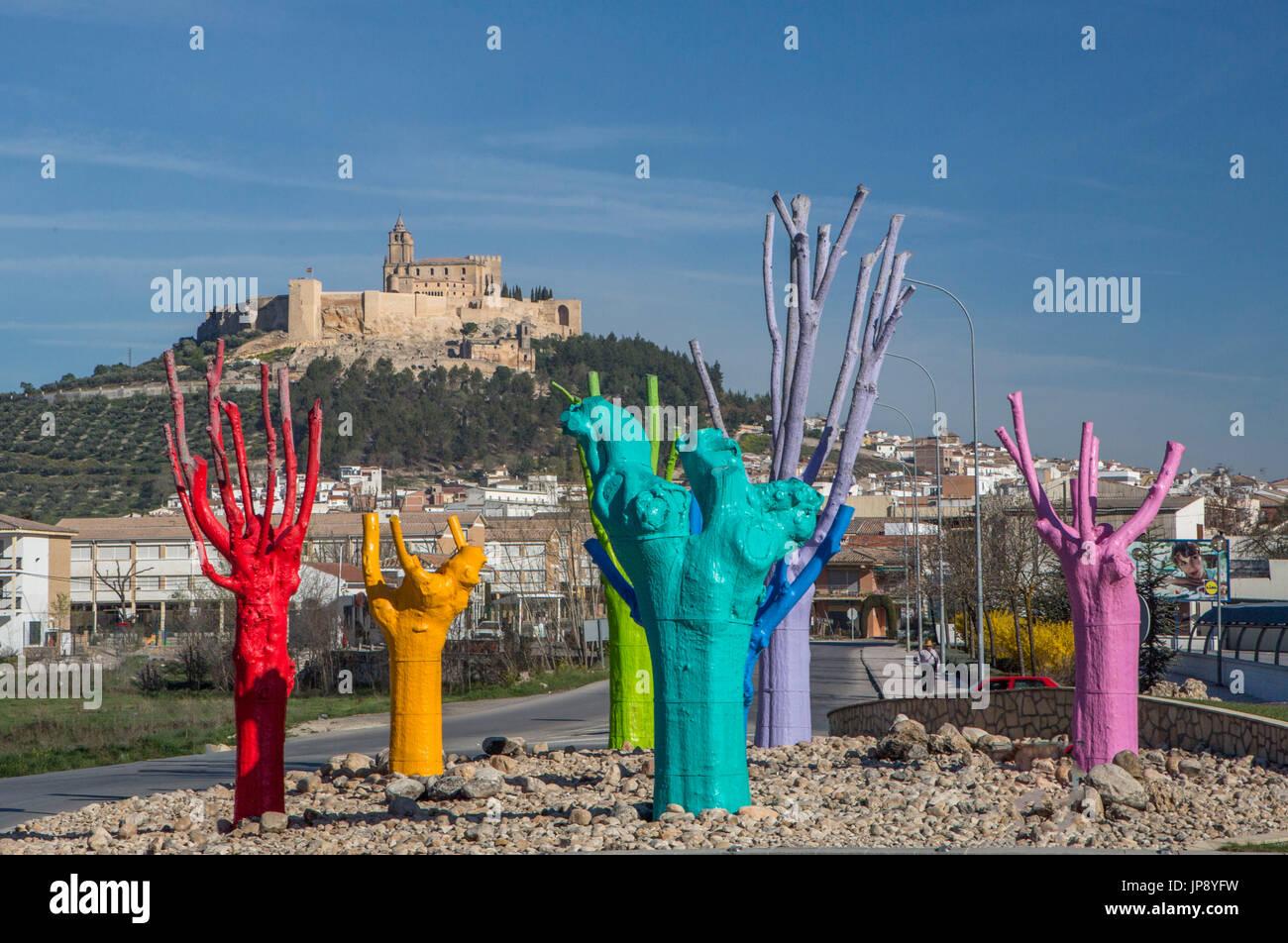 Spain, Andalucia Region, Jaen Province, Alcaudete City, Alcaudete Castle - Stock Image