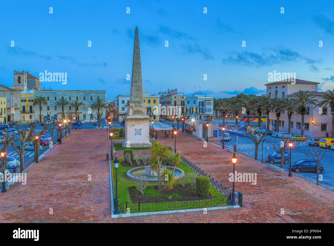Spain, Balearic Islands, Menorca Island, Ciutadella City, Born Square - Stock Image