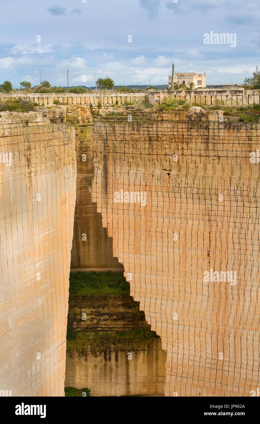 Spain, Balearic Islands, Menorca Island, Ciutadella City, Lithica, S´Hostal quarry, - Stock Image