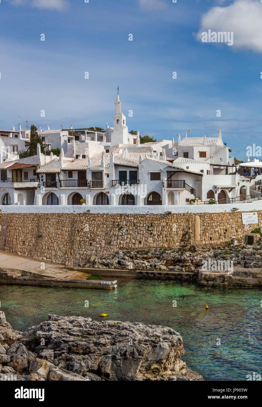 Spain, Balearic Islands, Menorca Island, Old Binibeca Fishing Village - Stock Image
