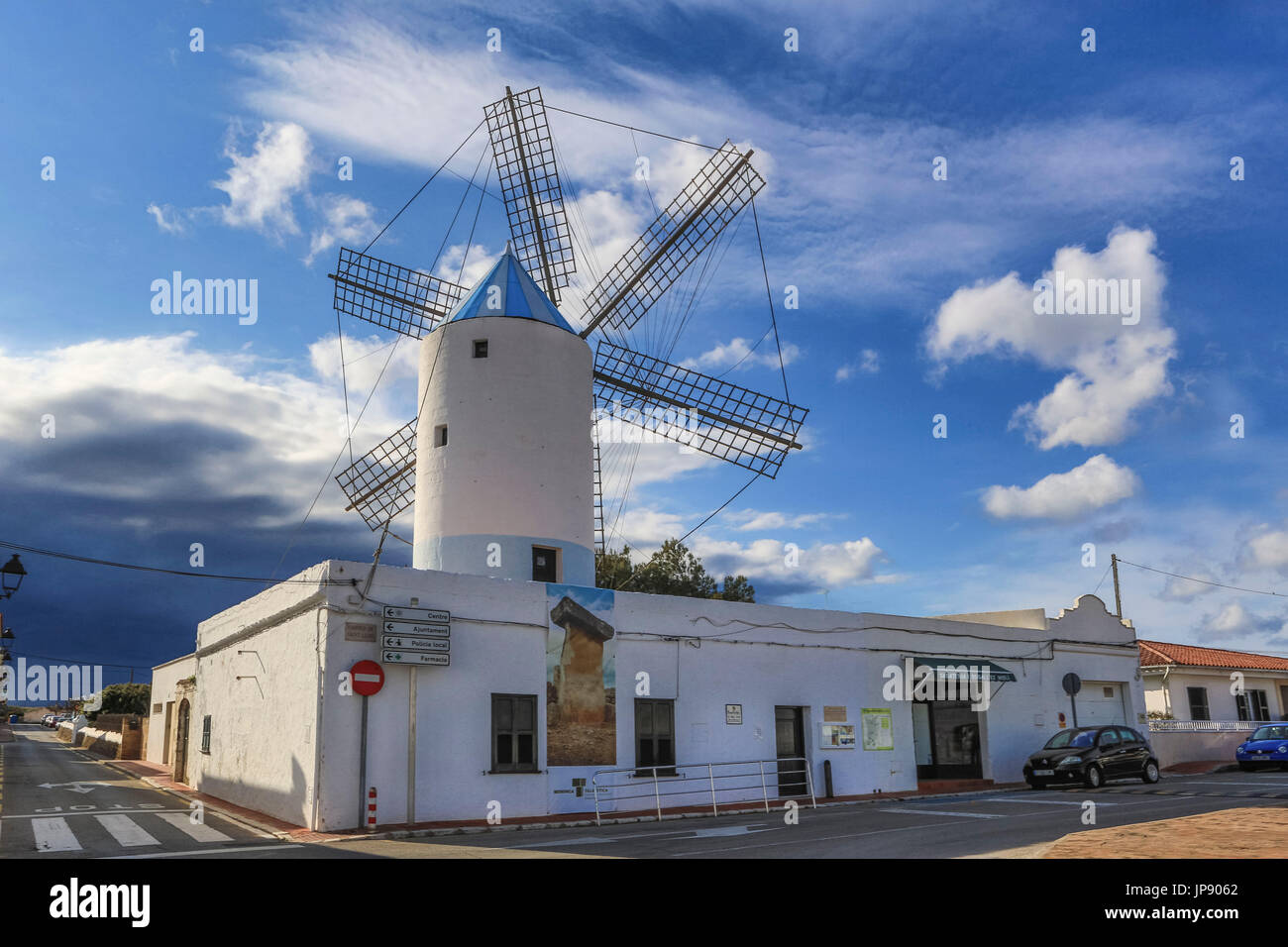 Spain, Balearic Islands, Menorca Island, Sant Lluis City, - Stock Image
