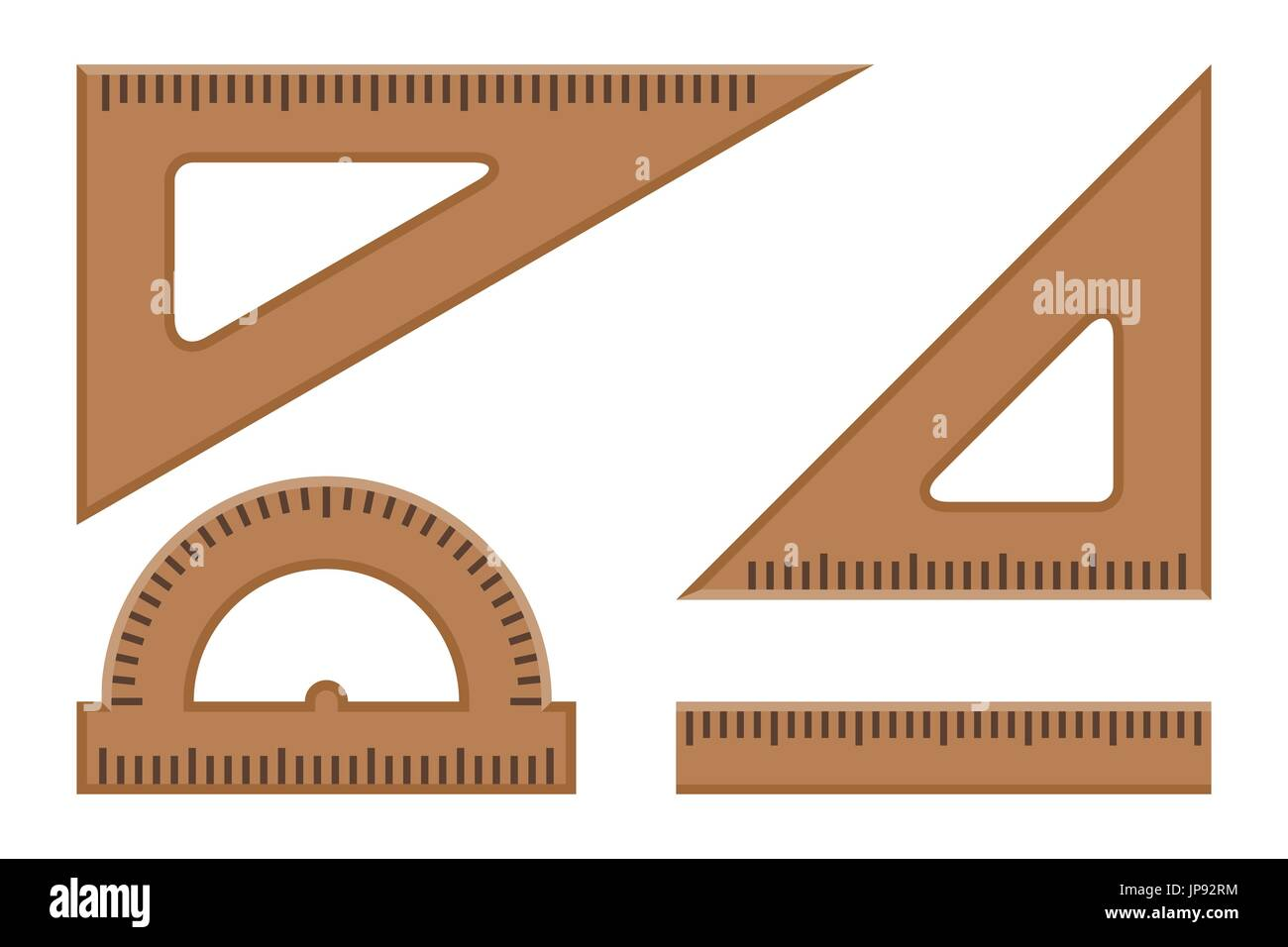 Rulers flat icons. - Stock Vector