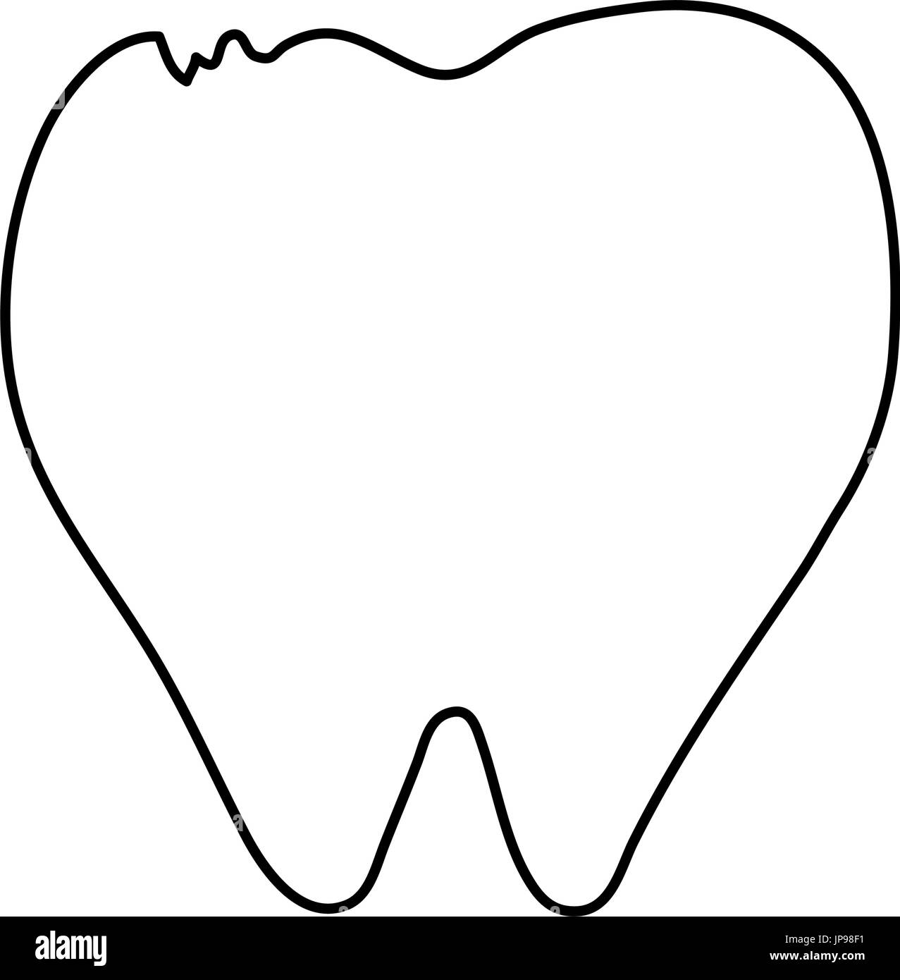 molar tooth healthcare related icon image - Stock Image