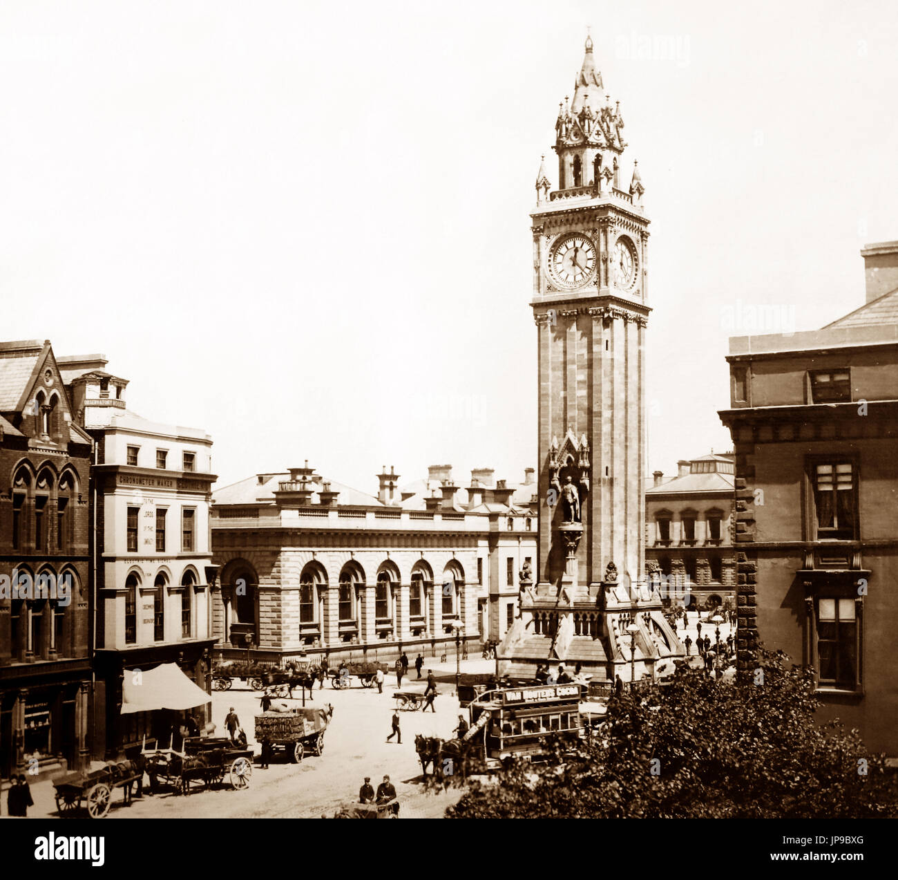 Albert Memorial, Belfast, Ireland, Victorian period - Stock Image